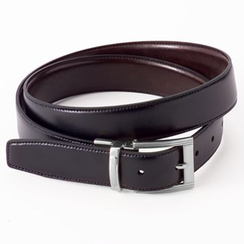 Croft & Barrow® Reversible Stitch-Edge Faux-Leather Belt