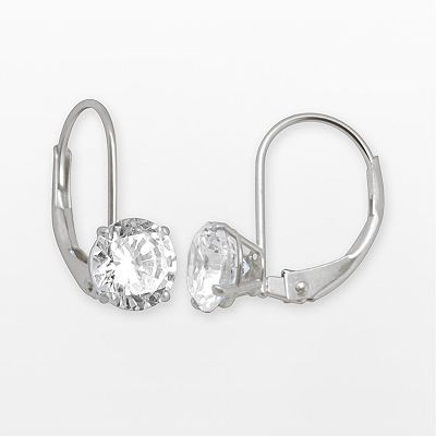 Renaissance Collection 10k White Gold 2-ct. T.W. Drop Earrings - Made with Swarovski Cubic Zirconia