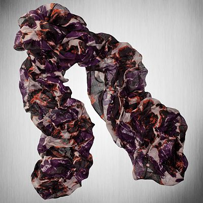 Simply Vera Vera Wang Abstract Floral Ruched Scarf from kohls.com