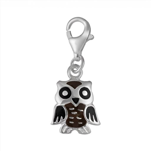 Personal Charm Sterling Silver Owl Charm