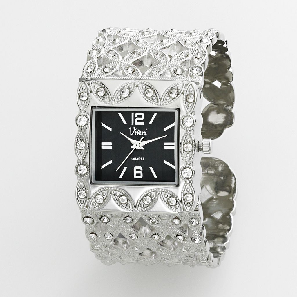 Vivani Women's Flower Bangle Watch
