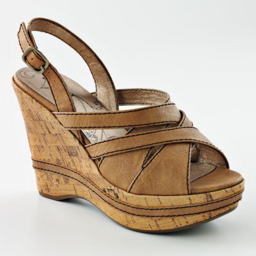 mudd henna platform wedge sandals
