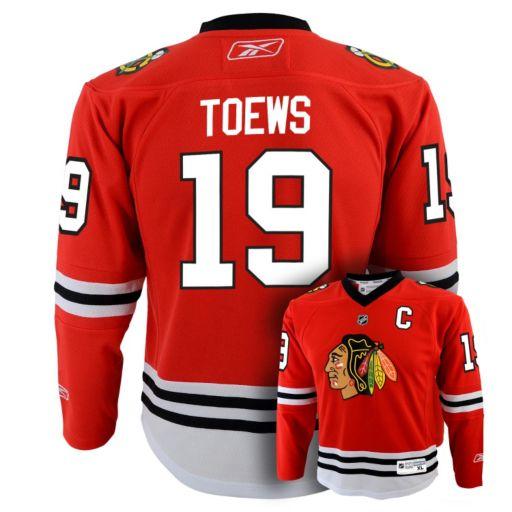 Boys 8-20 Reebok Chicago Blackhawks Jonathan Toews NHL Replica Jersey