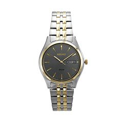 Seiko Men's Two Tone Stainless Steel Solar Watch - SNE042