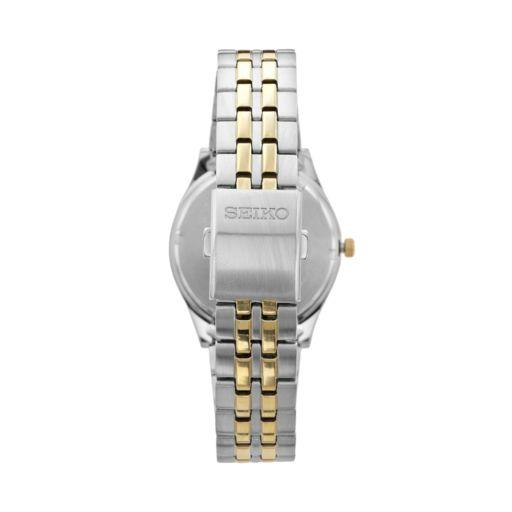 Seiko Men's Two Tone Stainless Steel Solar Watch - SNE042