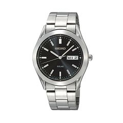 Seiko Men's Stainless Steel Solar Watch - SNE039