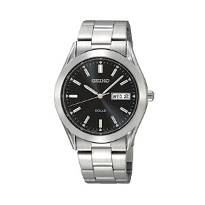 Seiko Men's Stainless Steel Solar Watch - SNE039