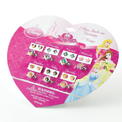 Disney Princess Stick-On Earrings and Rings Set by Hanover Accessories - Kids