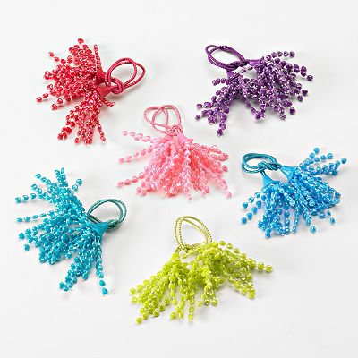 Hanover Accessories 6-pk. Dangling Bead Ponytail Holders
