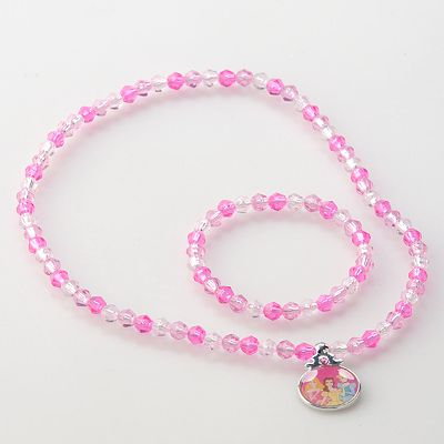 Disney Princess Beaded Necklace and Bracelet Set by Hanover Accessories - Kids