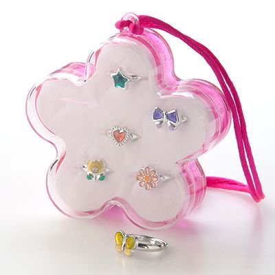 Hanover Accessories 7-pc. Floral Ring Box Set - Kids
