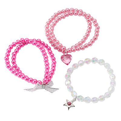 Hanover Accessories 3-pk. Double-Strand Faux-Pearl Bracelets - Kids
