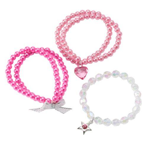 Hanover Accessories 3-pk. Double-Strand Faux-Pearl Bracelets - Kids