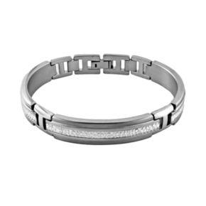 STI by Spectore Titanium and Sterling Silver Bracelet - Men