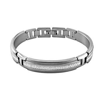 STI by Spectore Titanium & Sterling Silver Bracelet - Men