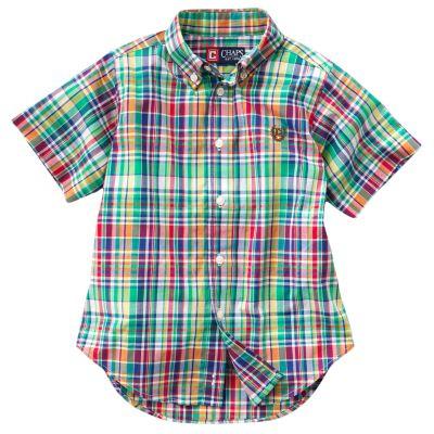 Chaps Yarn-Dyed Plaid Shirt