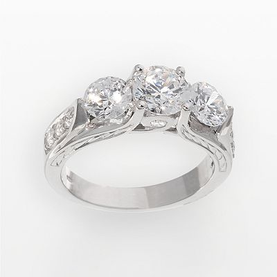 Sterling Silver 2.46-ct. T.W. DiamonLuxe 3-Stone Ring