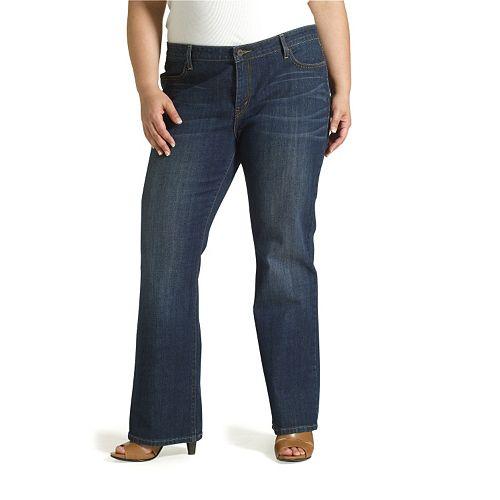 cdb2842f91482 Plus Size Levi s 590 Bootcut Fuller-Waist Jeans