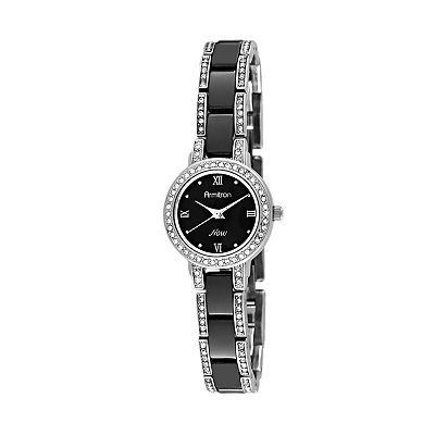 Armitron NOW Silver-Tone Crystal Watch - Women