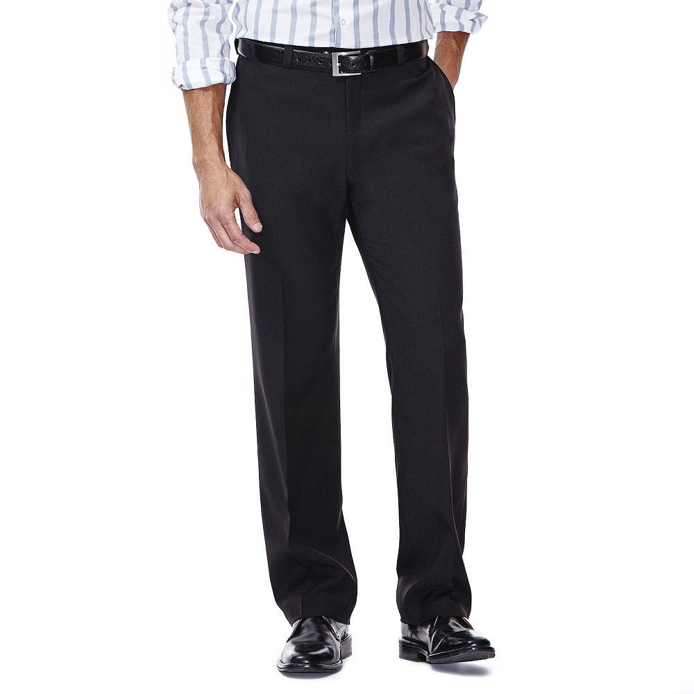 Men's Haggar® eCLo Stria Classic-Fit Flat-Front Dress Pants