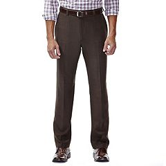 Men's Haggar eCLo Stria Classic-Fit Flat-Front Dress Pants
