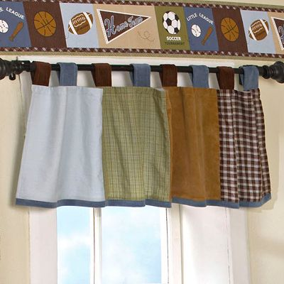 CoCaLo Baby Sports Fan Window Valance