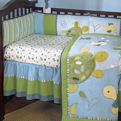 CoCaLo Baby Turtle Reef Turtle Fitted Crib Sheet