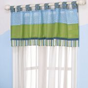 CoCaLo Baby Turtle Reef Striped Window Valance