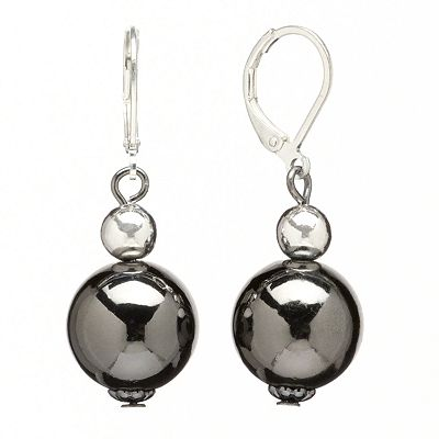 Apt. 9 Two-Tone Beaded Drop Earrings