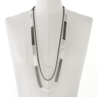 Two Tone Long Multistrand Necklace