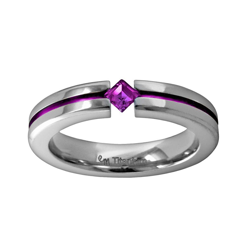 STI by Spectore Titanium Amethyst Ring