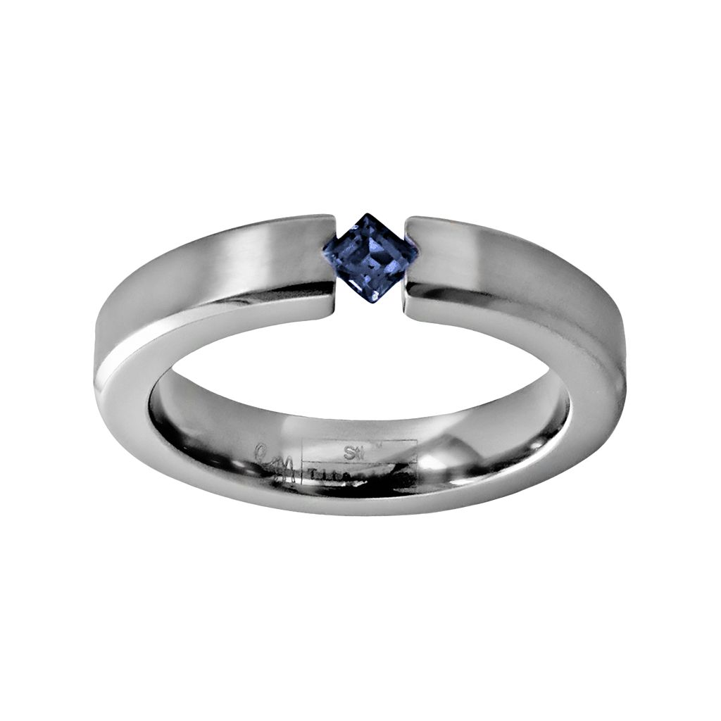 STI by Spectore Titanium Sapphire Ring