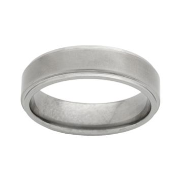 STI by Spectore Titanium Beveled Wedding Band - Men