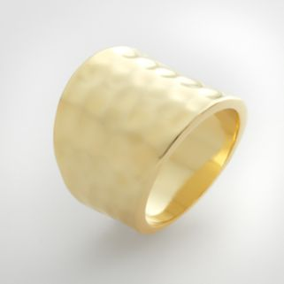 Gold Tone Hammered Ring