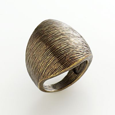 Bronze-Tone Brushed Ring