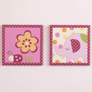 CoCaLo Baby Zurie 2-pk. Canvas Wall Art