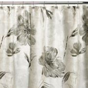 Creative Bath Opaline Floral Fabric Shower Curtain
