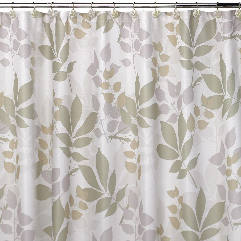Creative Bath Shadow Leaves Fabric Shower Curtain