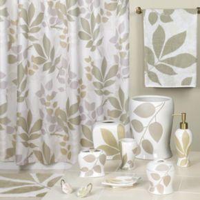 Creative Bath Shadow Leaves Fabric Shower Curtain
