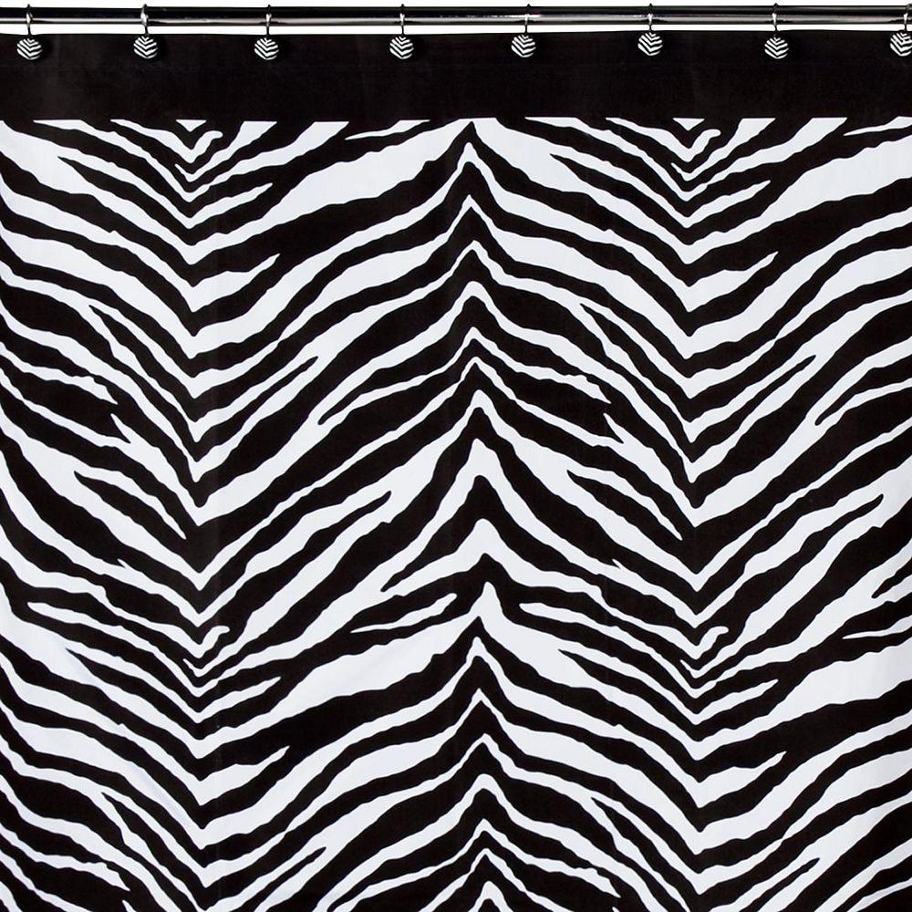 Creative Bath Zebra Fabric Shower Curtain