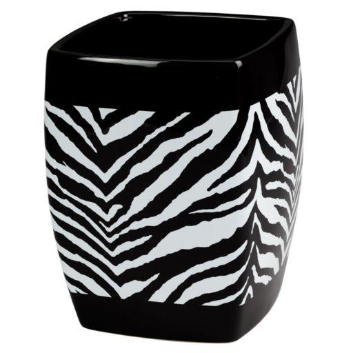Creative Bath Zebra Wastebasket