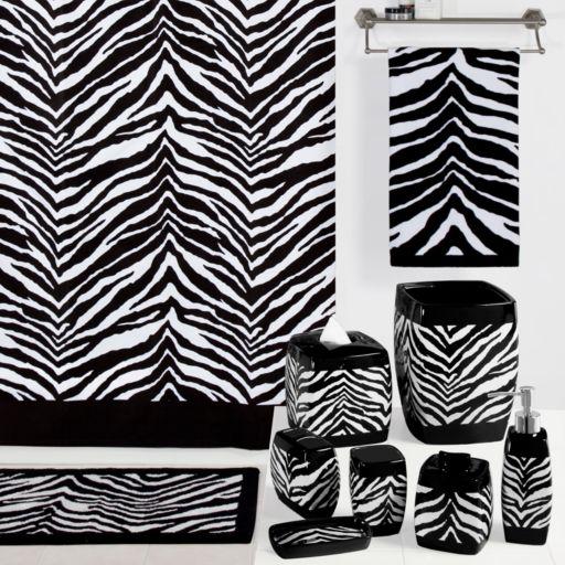 Creative Bath 12-pk. Zebra Shower Curtain Hooks