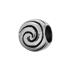 Individuality Beads Sterling Silver Wave Bead