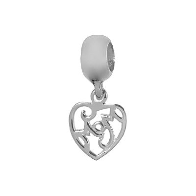 Individuality Beads Sterling Silver Mom Heart Charm