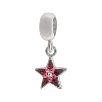 Individuality Beads Sterling Silver Crystal Star Charm