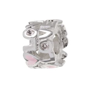 Individuality Beads Sterling Silver Crystal Love Bead