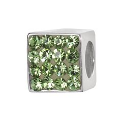 Individuality Beads Sterling Silver Crystal Cube Bead