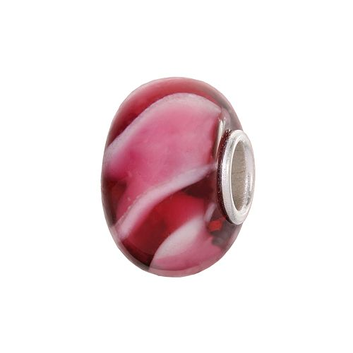 Individuality Beads Sterling Silver Glass Swirl Bead