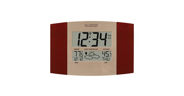 La Crosse Technology Atomic Digital Wall Clock With Forecast