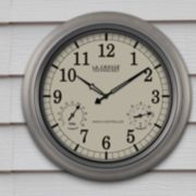 La Crosse Technology Atomic Analog Indoor Outdoor Wall Clock